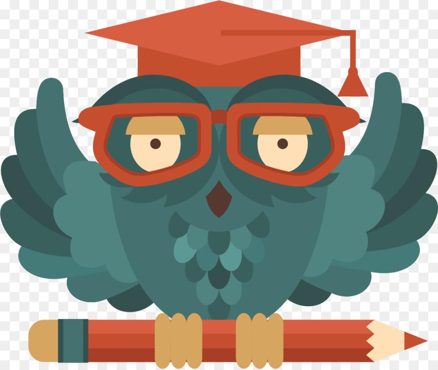 картинки сова в очках и шапке размещен нижней точке