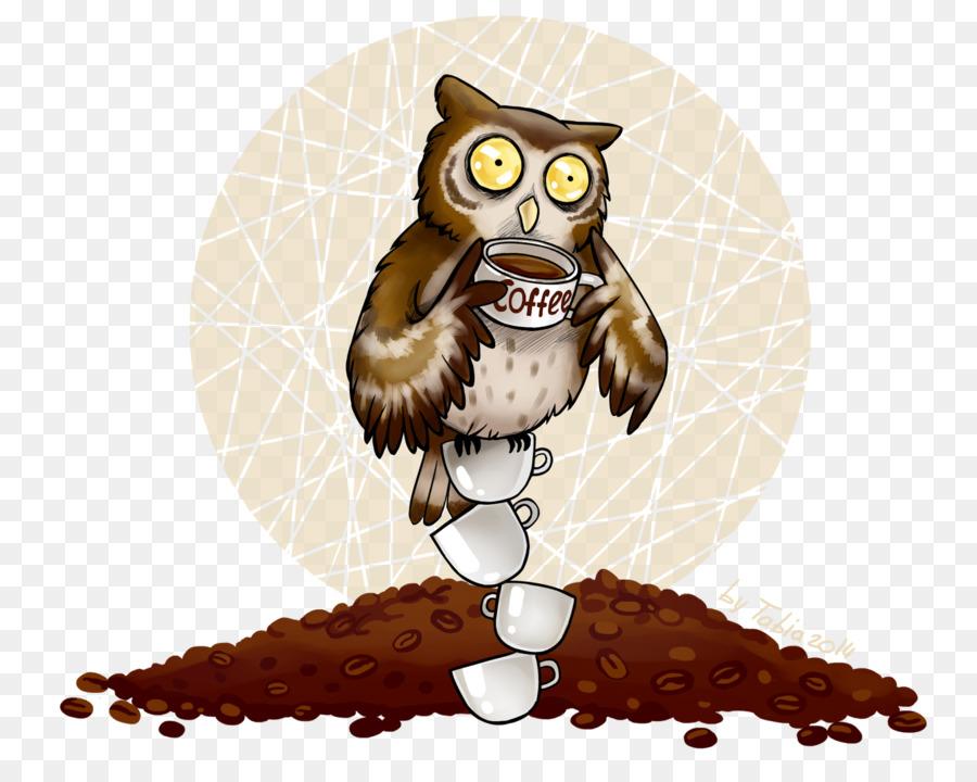Прикольные картинки сова с кофе