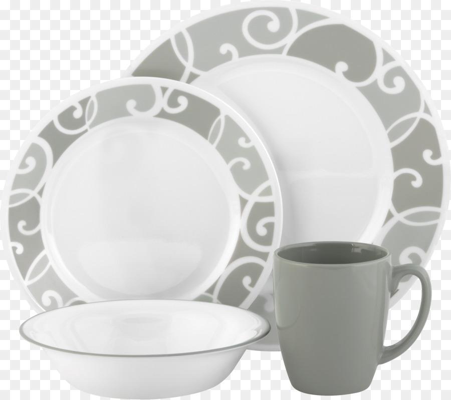 Картинка набор посуды на прозрачном фоне
