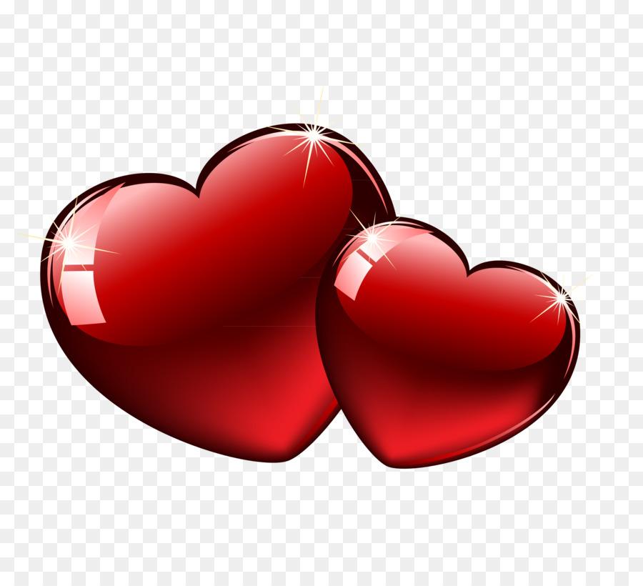 Картинка два сердечка на прозрачном фоне