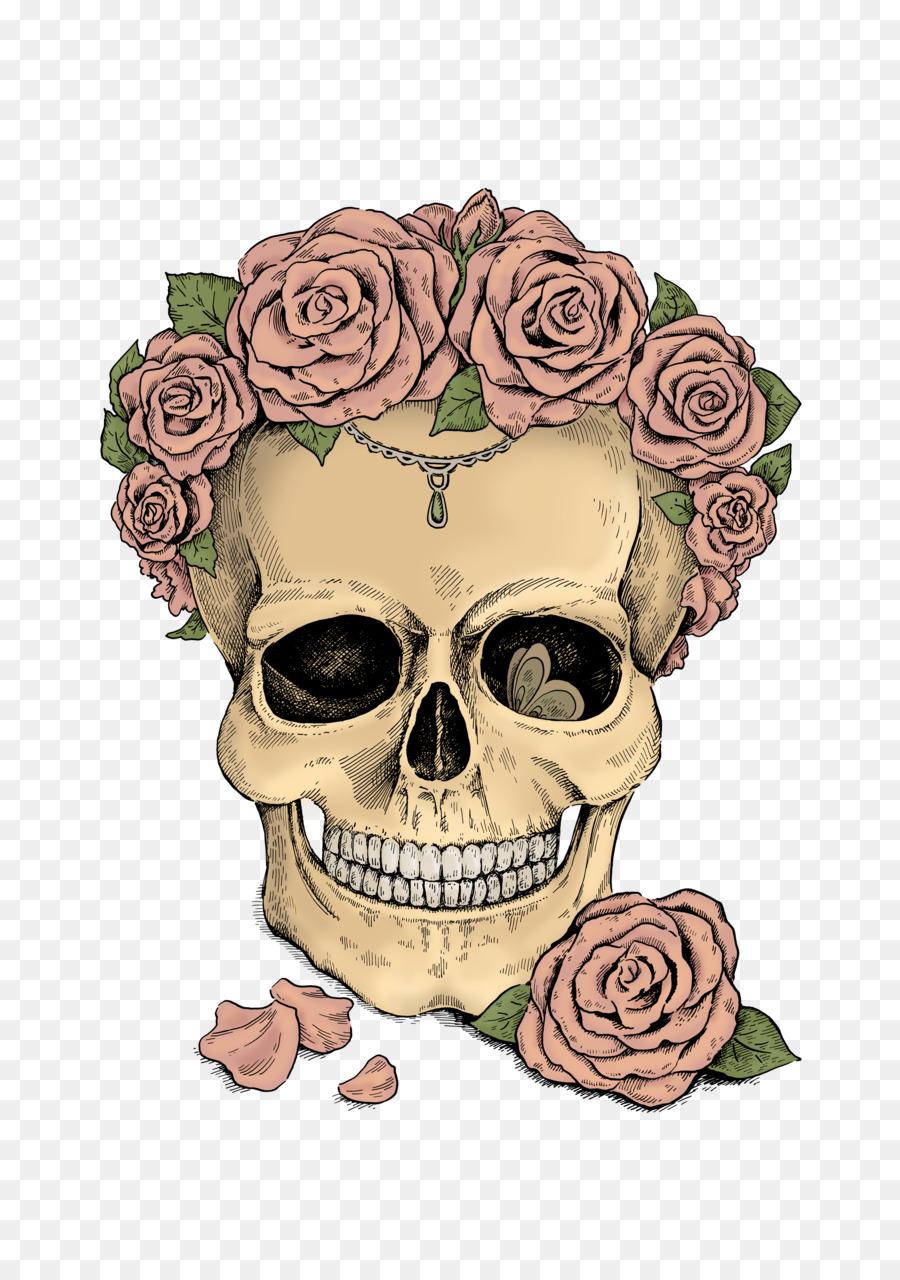 картинки с черепами с цветами