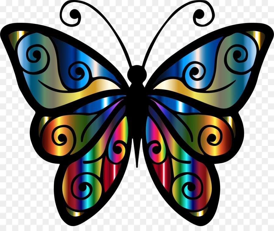 Картинка бабочка для детей цветной шаблон