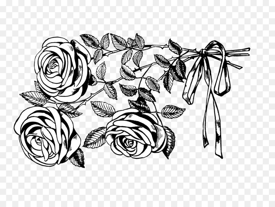 Картинки черно белые розочки