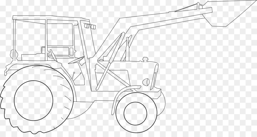 Картинки трактора нарисованные карандашом