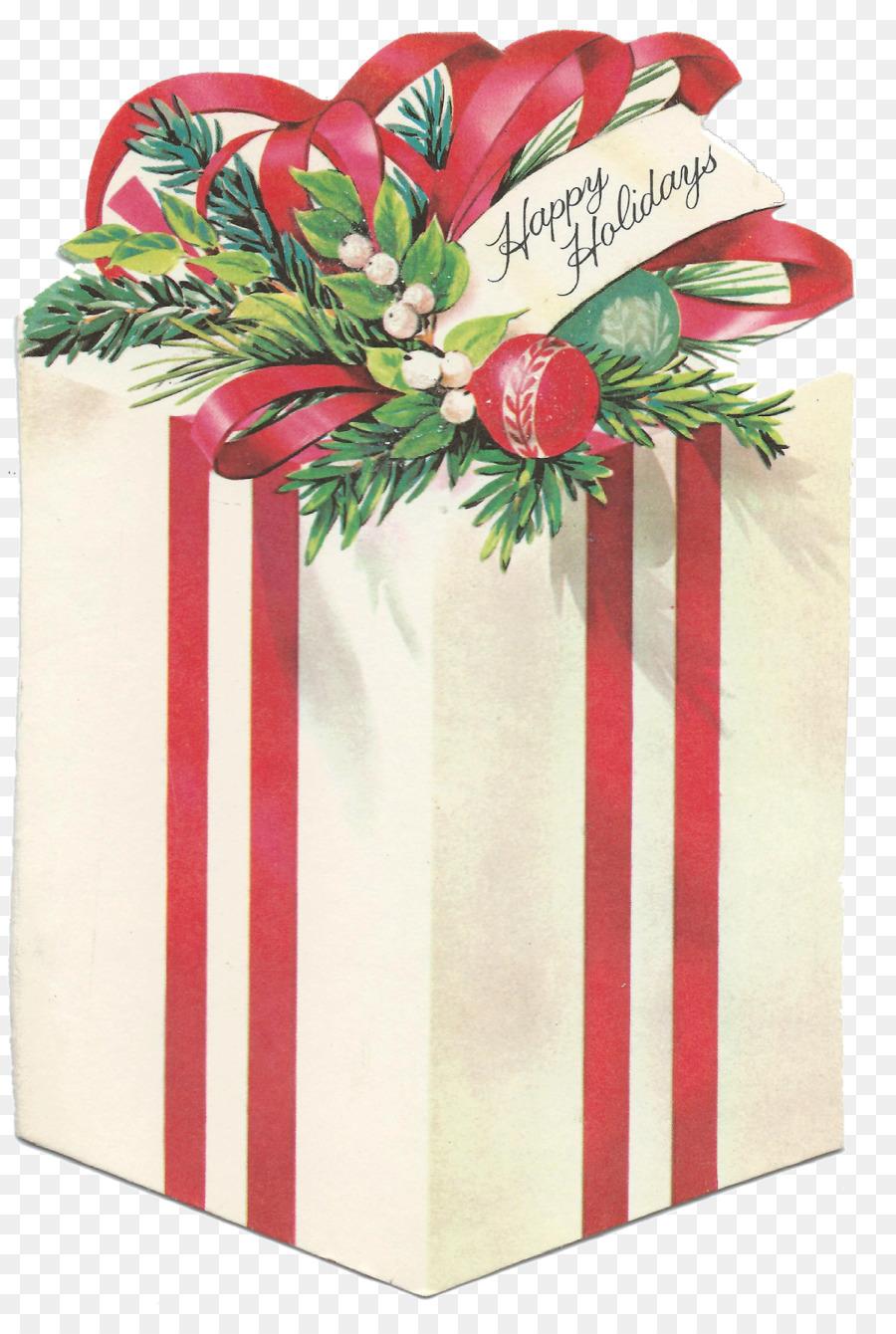 Открытки рождественские подарки