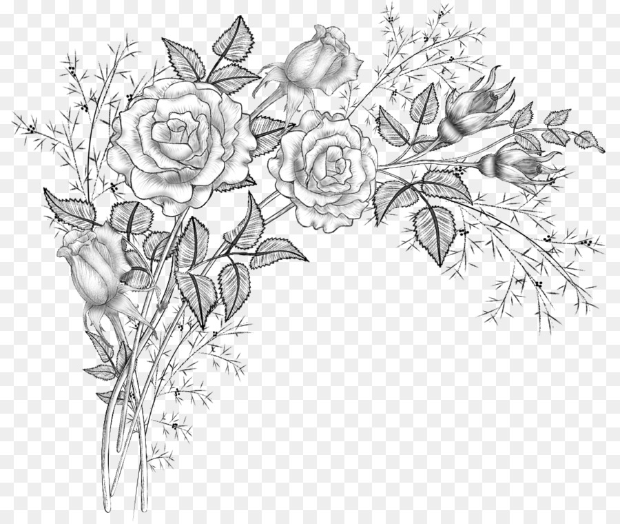 Цветы картинки без фона карандашом