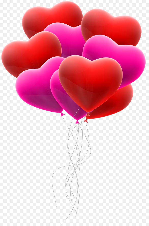 открытка с воздушными шарами в виде сердца когда-то