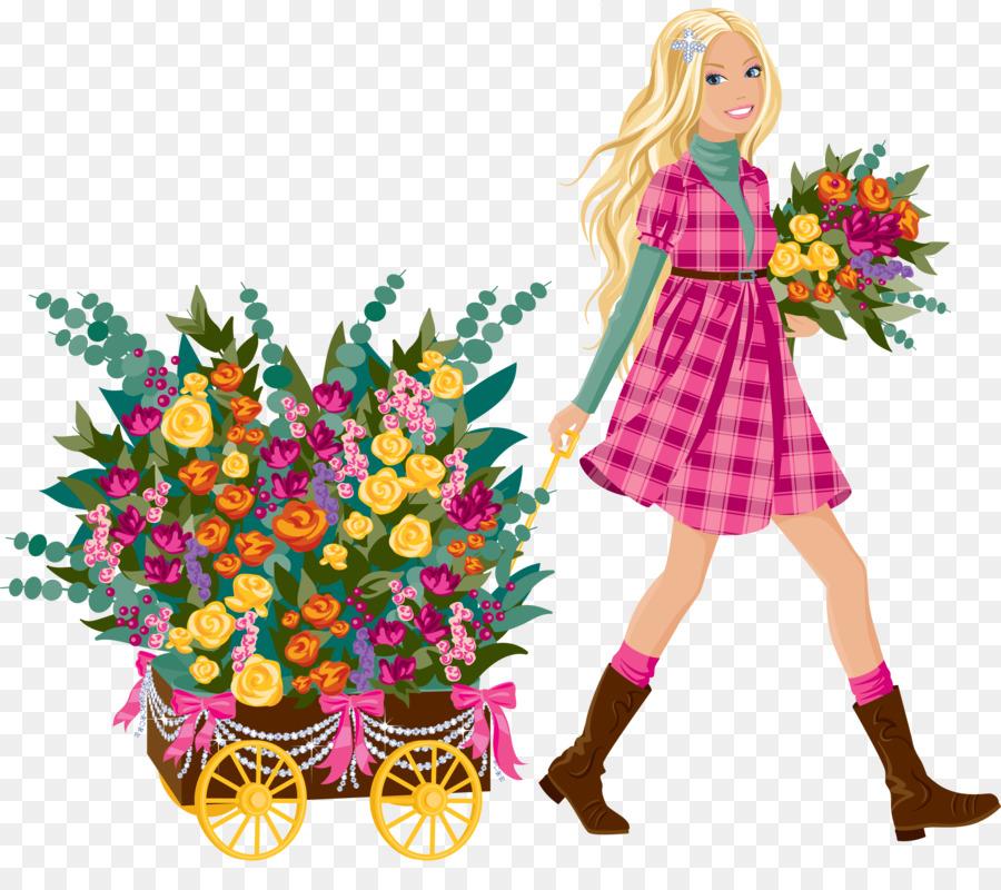Картинка флорист для детей на прозрачном фоне