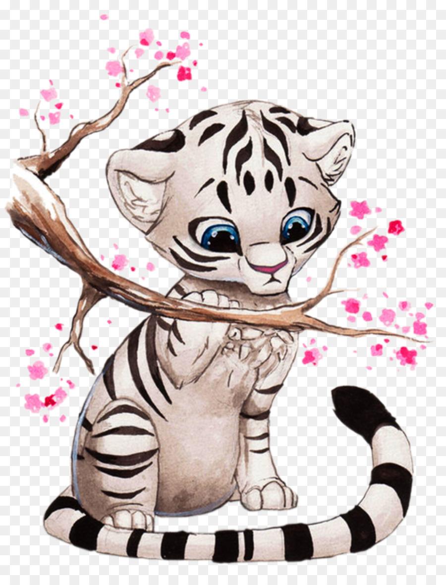 Картинки тигрята милые нарисованные