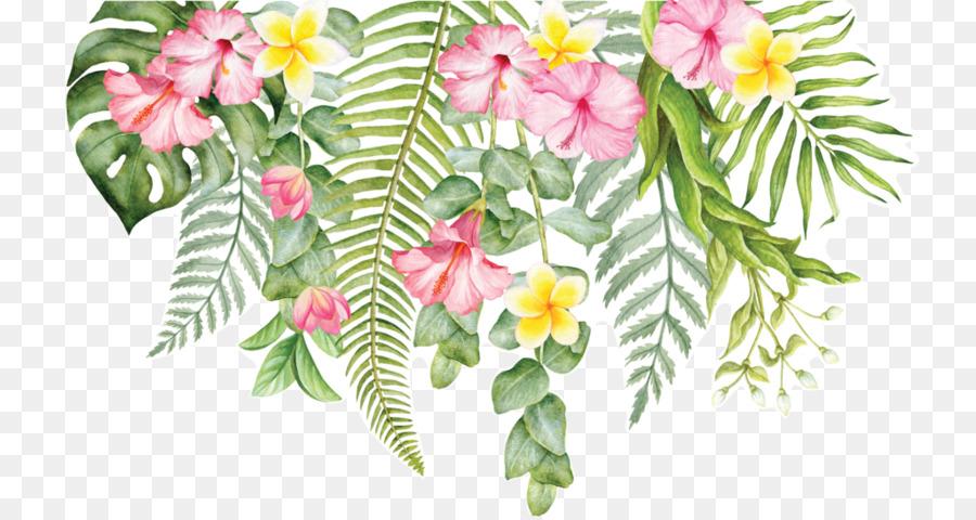 тропические цветы картинки нарисованые вине можно подавать