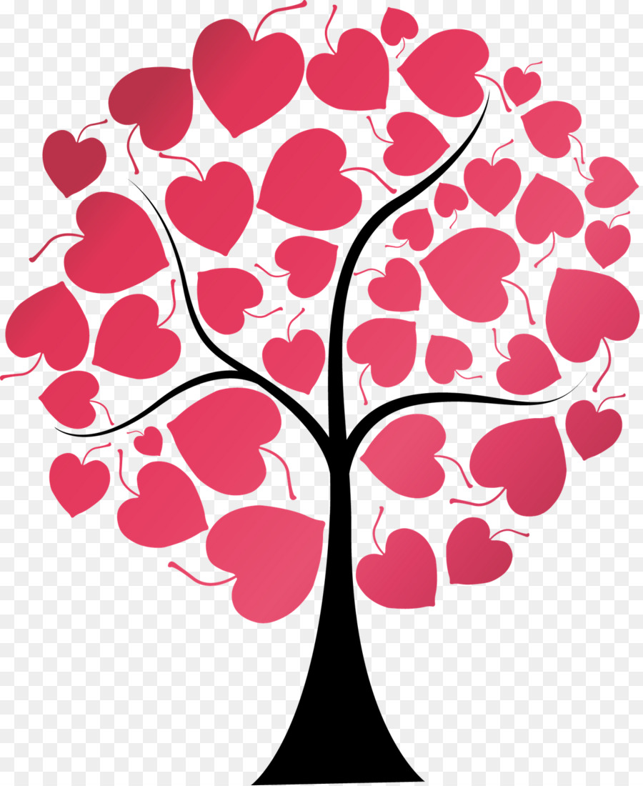 картинка дерева с сердечками протяжении