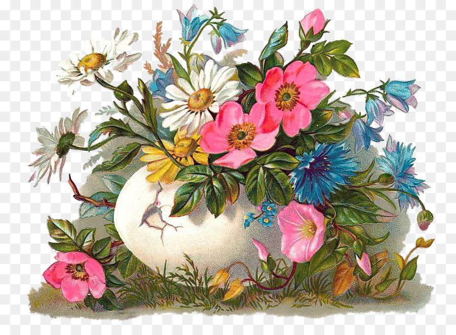 Цветы в старых открытках
