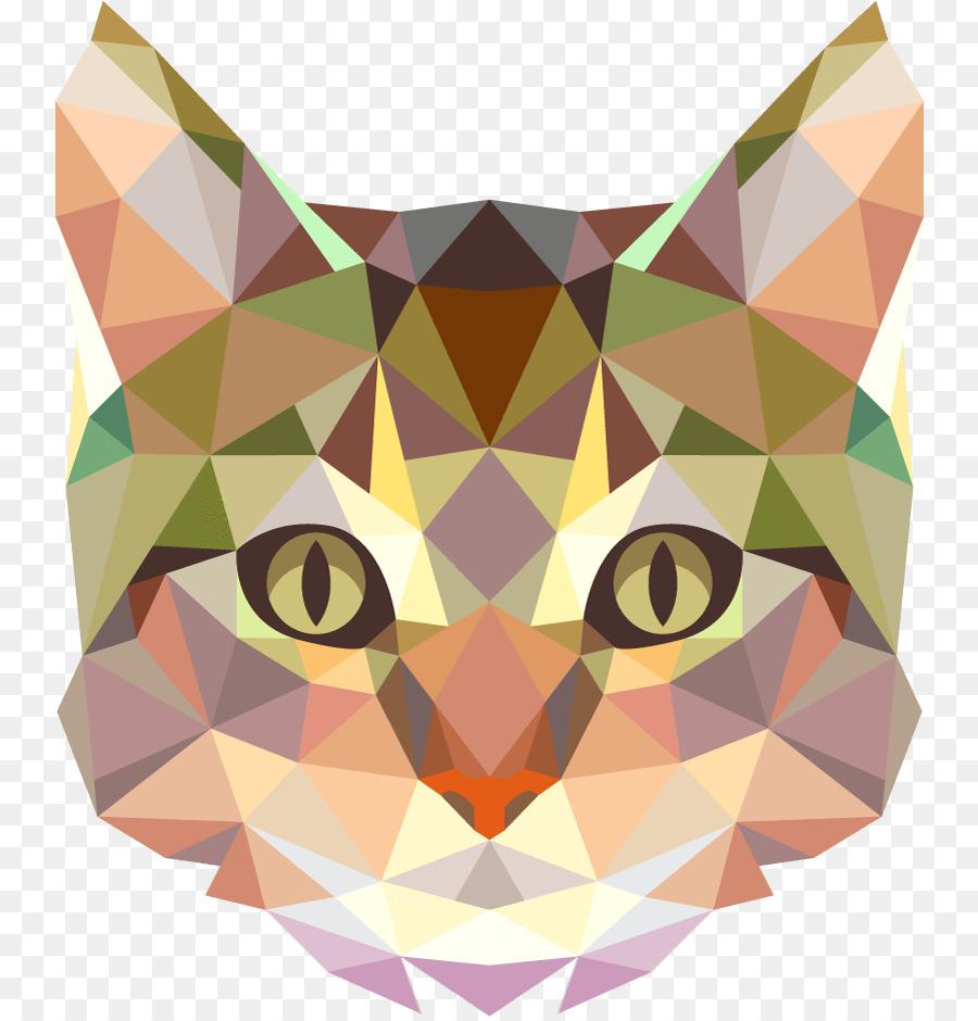 Полигональные картинки кошек, картинки