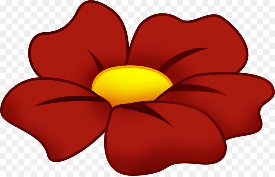 Картинка красный цветок на прозрачном фоне для детей
