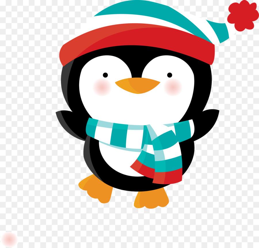 картинка пингвин новогодняя рубежом