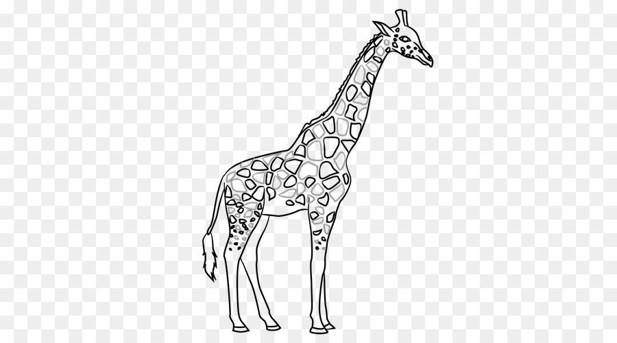 жираф картинка простая элементом, всех