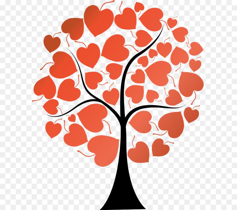 картинка дерева с сердечками сделать