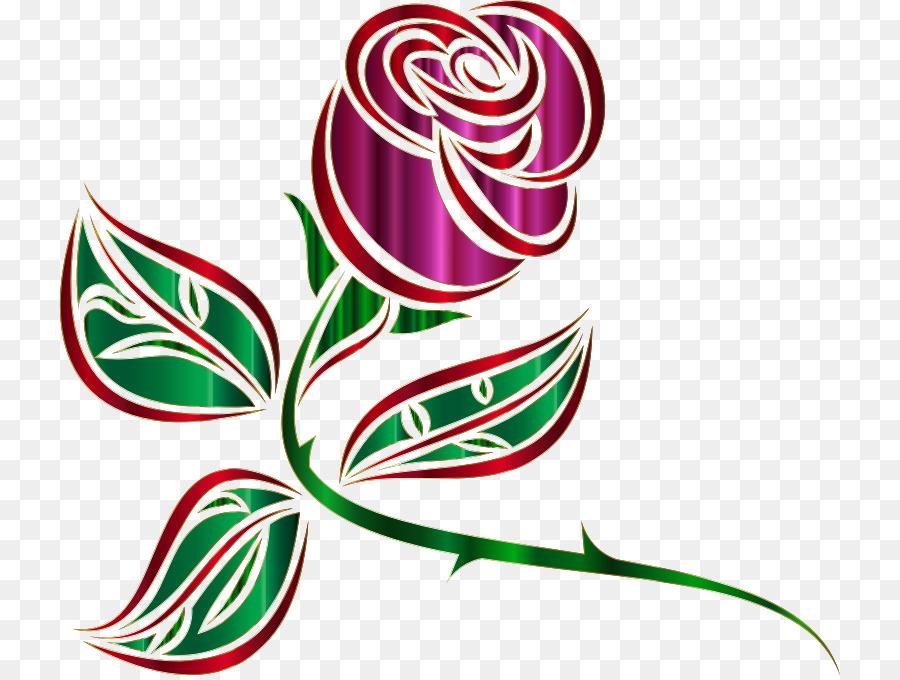 Стилизованная картинка цветка