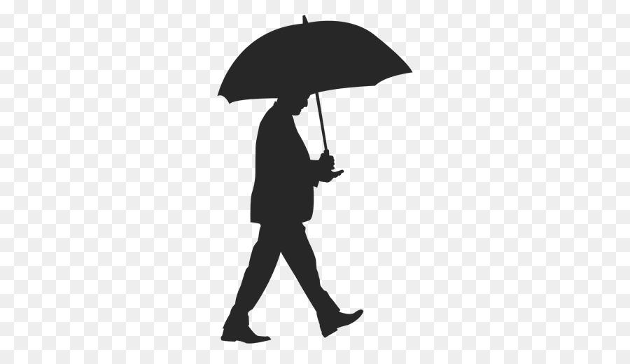 Картинка человека стоящего спиной под зонтом