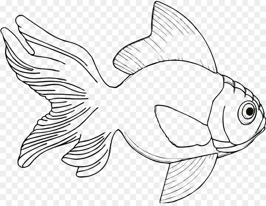 Рыбка рисунок контур