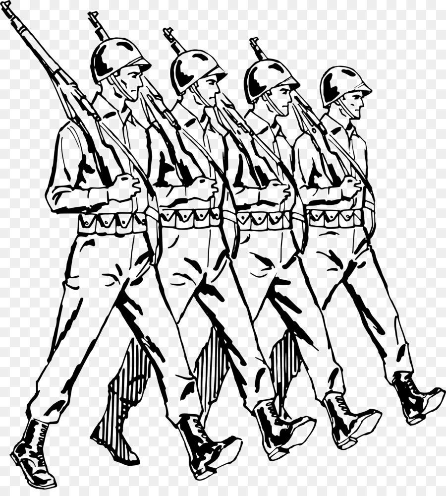 Картинка черно-белая об армии