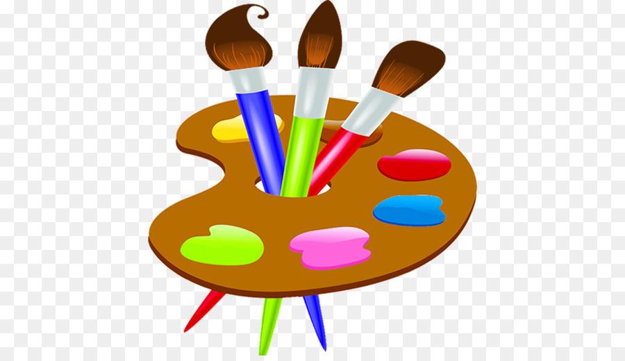 Кисточка и краски картинка для детей