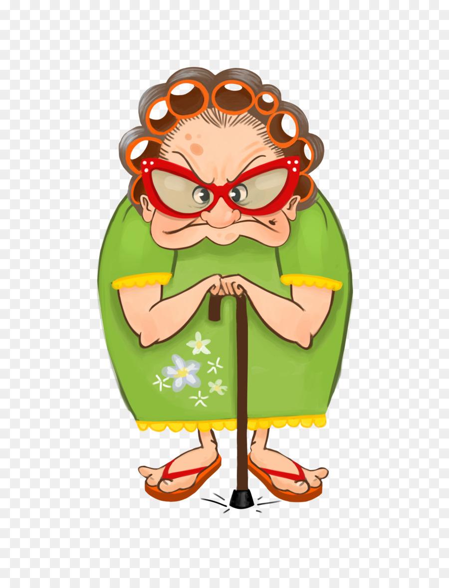 Рисунок смешной бабушки