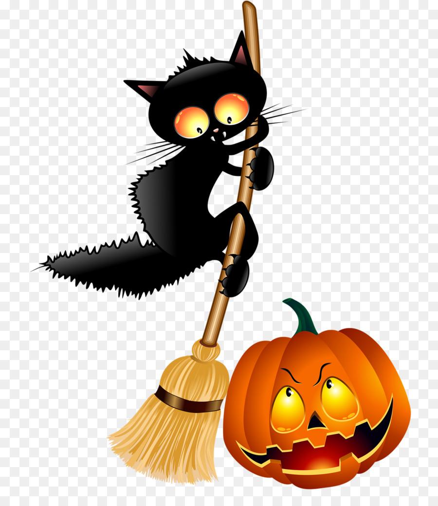 Рисунок черного кота на хэллоуин