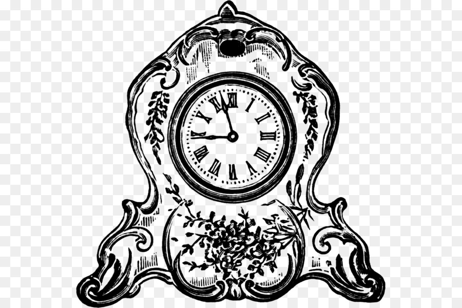 старинные часы векторная картинка дизайнеров известных людей
