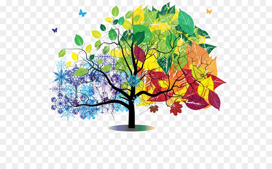 Картинка дерева по сезонам