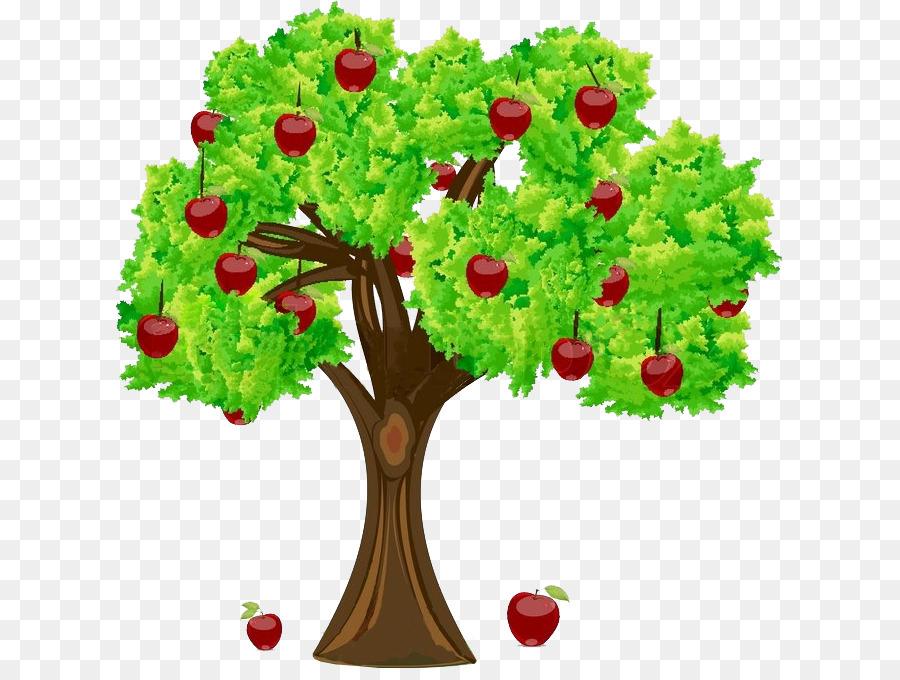 картинки дерево с яблоками праздник