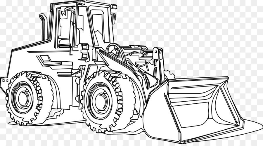 Картинка строительной техники черно белая