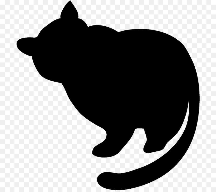 Картинка толстого черного кота