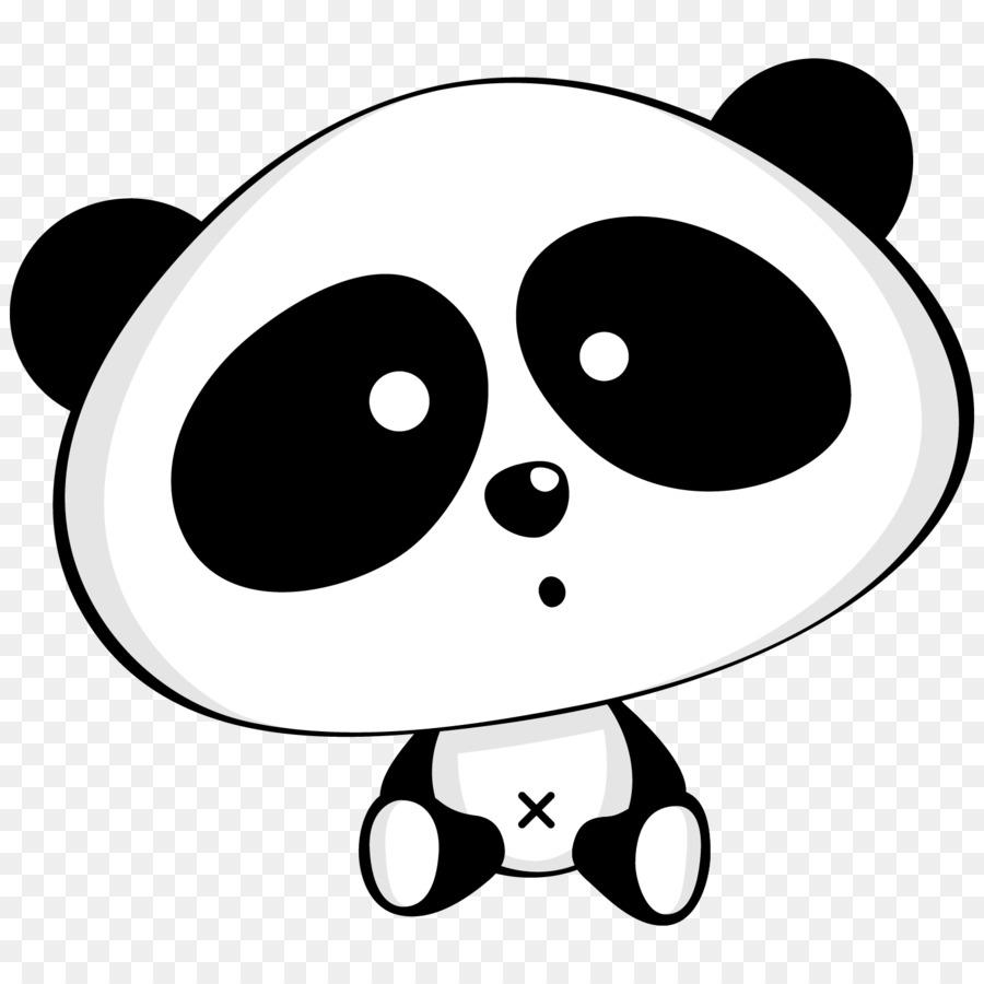Картинка панды черно-белая