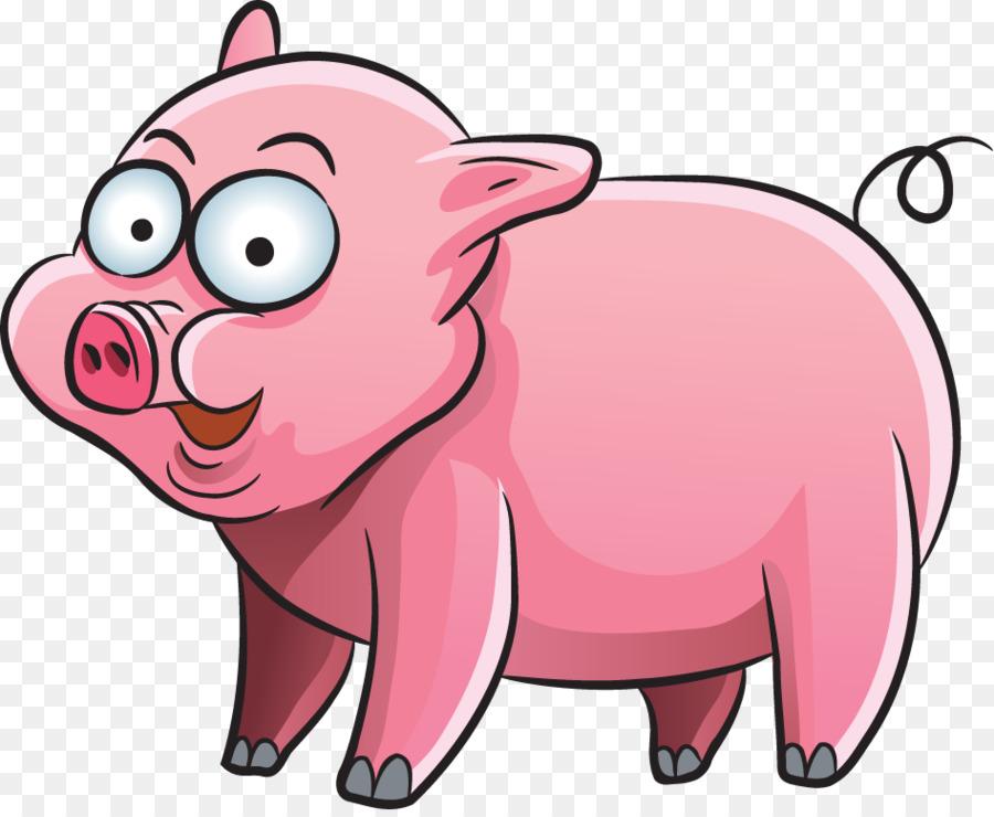 Картинка свинка нарисованная для детей