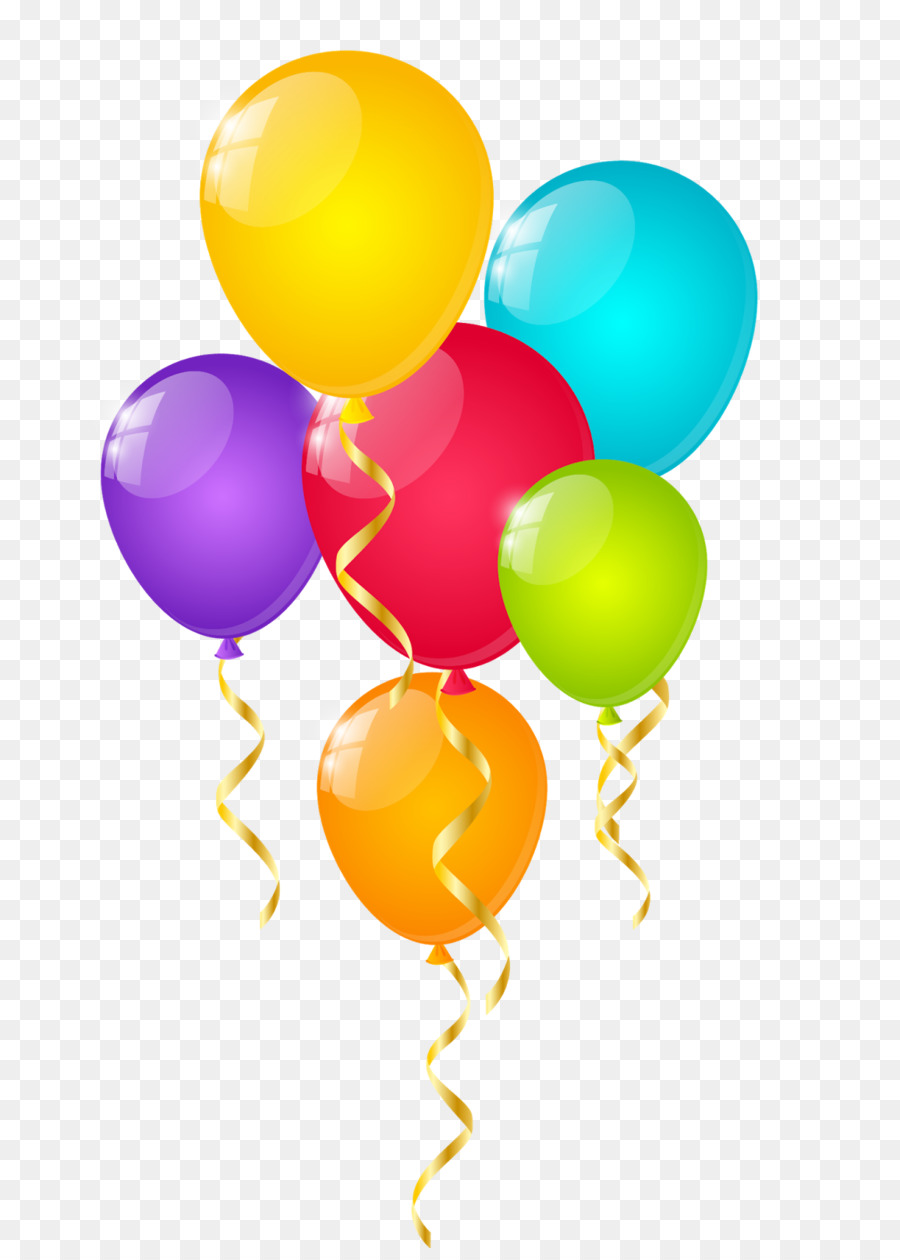 Картинка воздушные шары с днем рождения на прозрачном фоне
