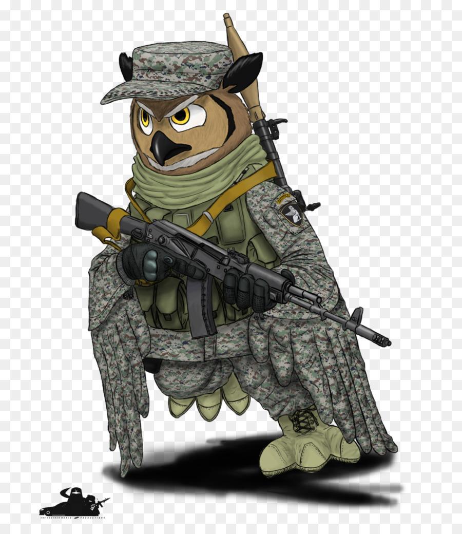 Сова картинка мультяшная стиль милитари