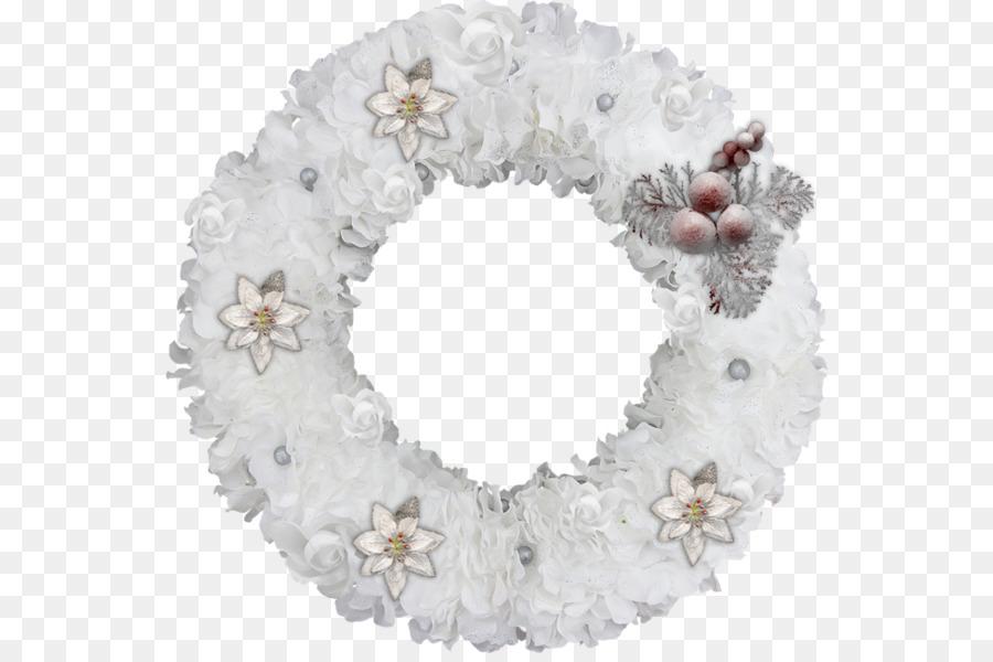 Картинки венок новогодний белый