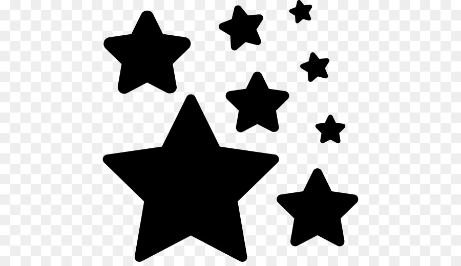 Картинка звезды на прозрачном фоне черно белые