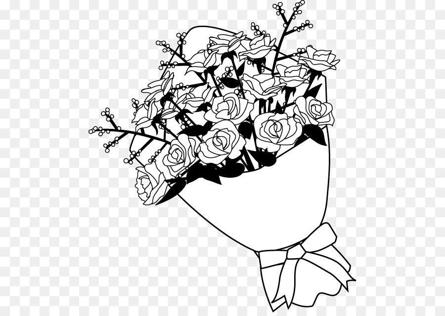 Букет цветов черно белый картинка