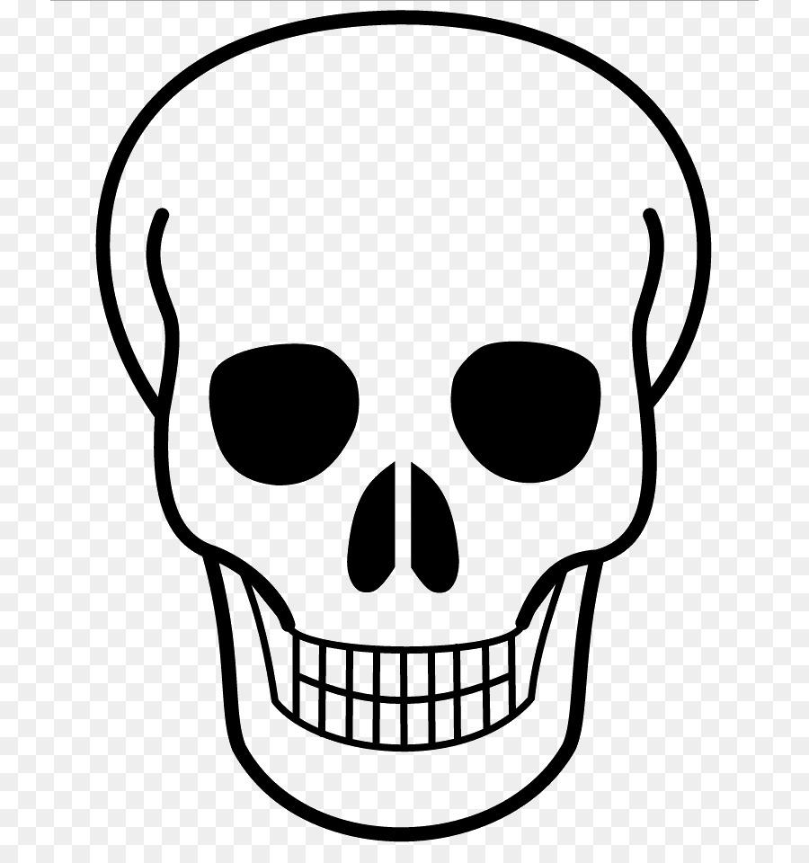 контурные рисунок черепа