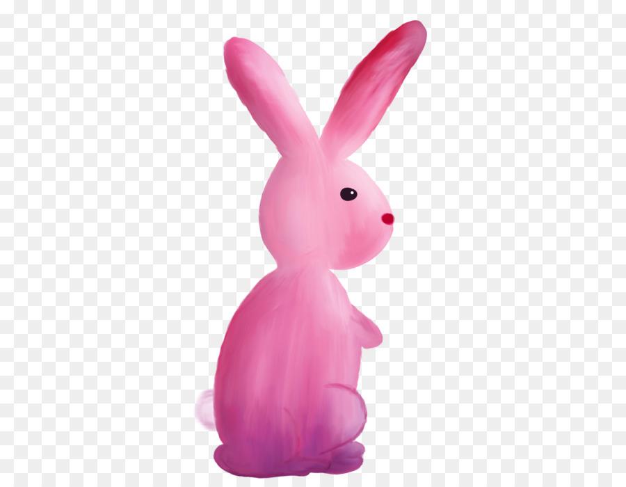 Картинка розового зайчика