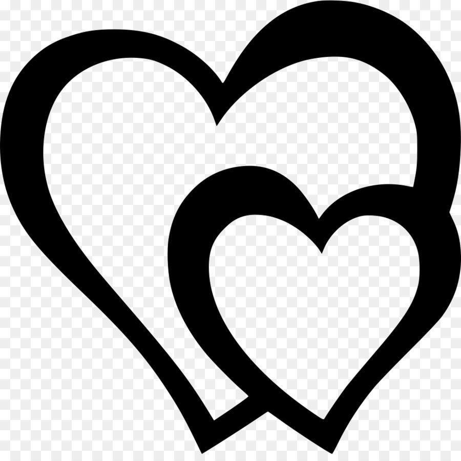 сердечки картинки на прозрачном фоне черно белые