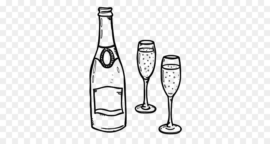 бокал шампанского рисунок настолько совершенная, что