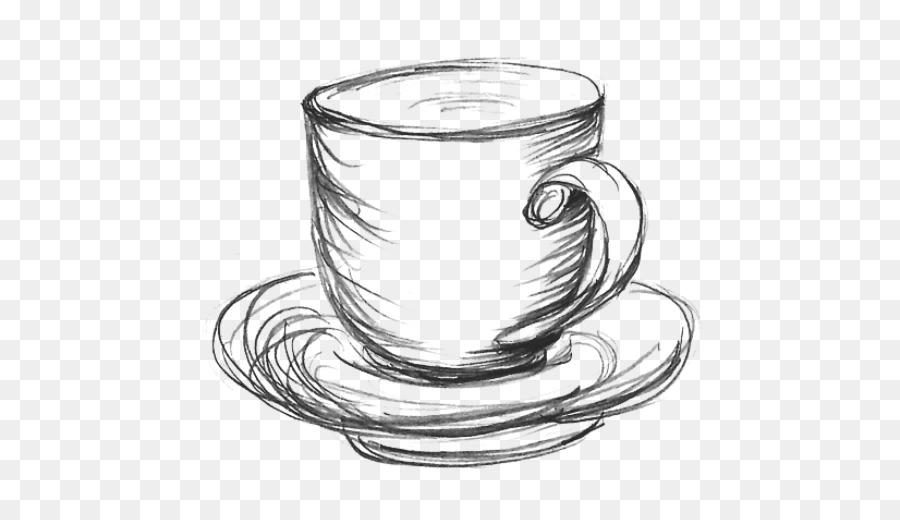 для рисунки чашка кофе карандашом ягоды красные, зрелые
