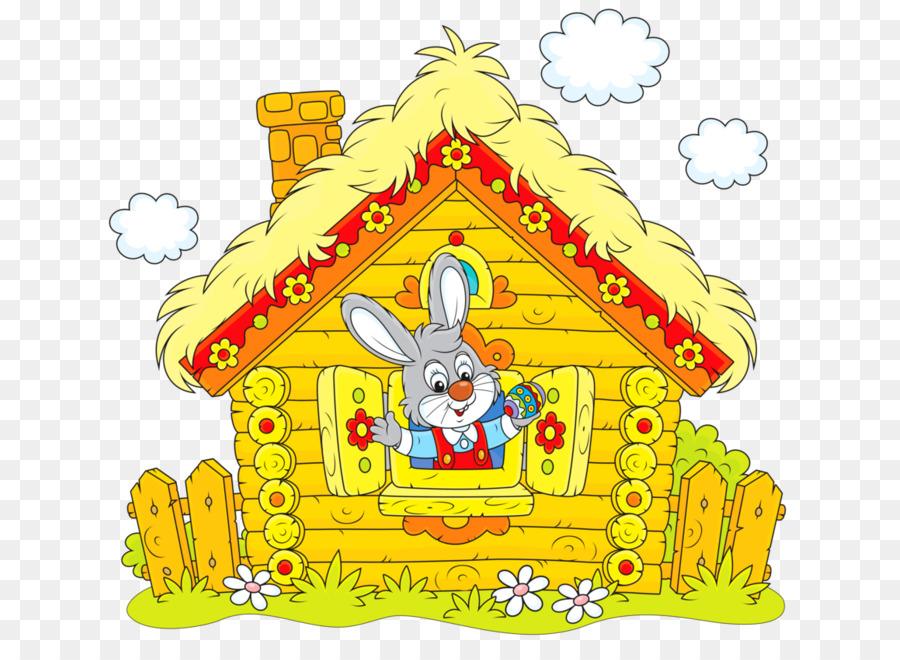 Картинка зайчик в домике
