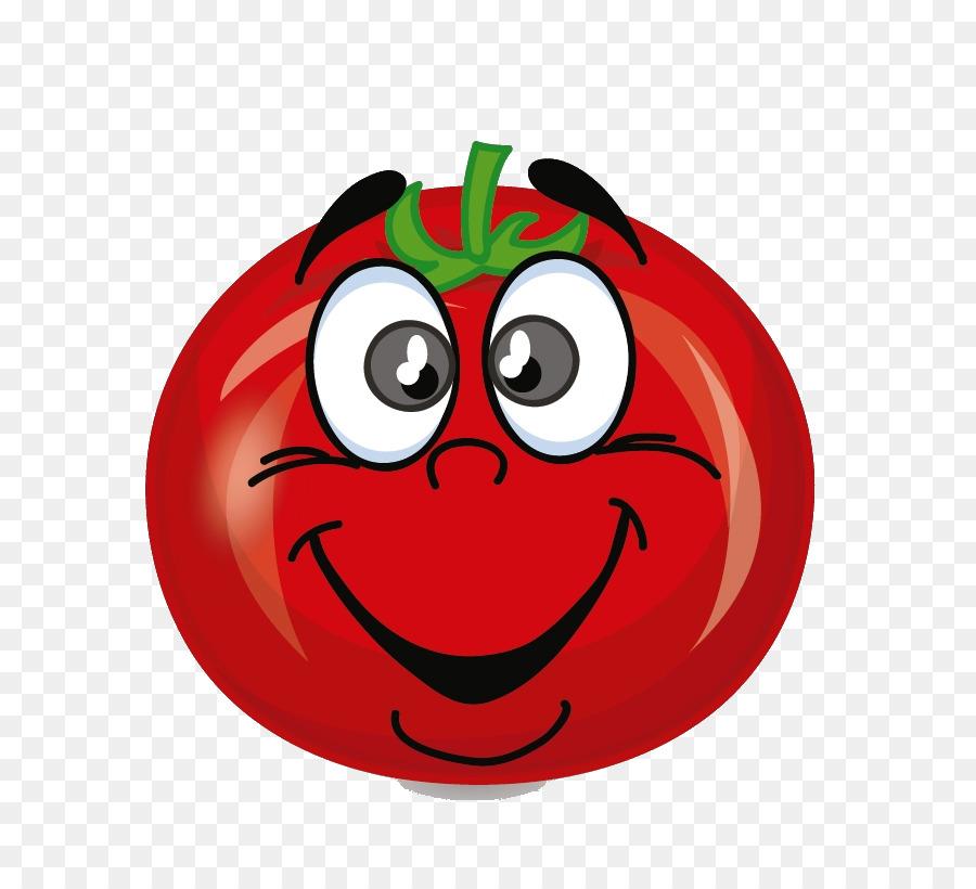 Рисунок смешного помидора, знаков