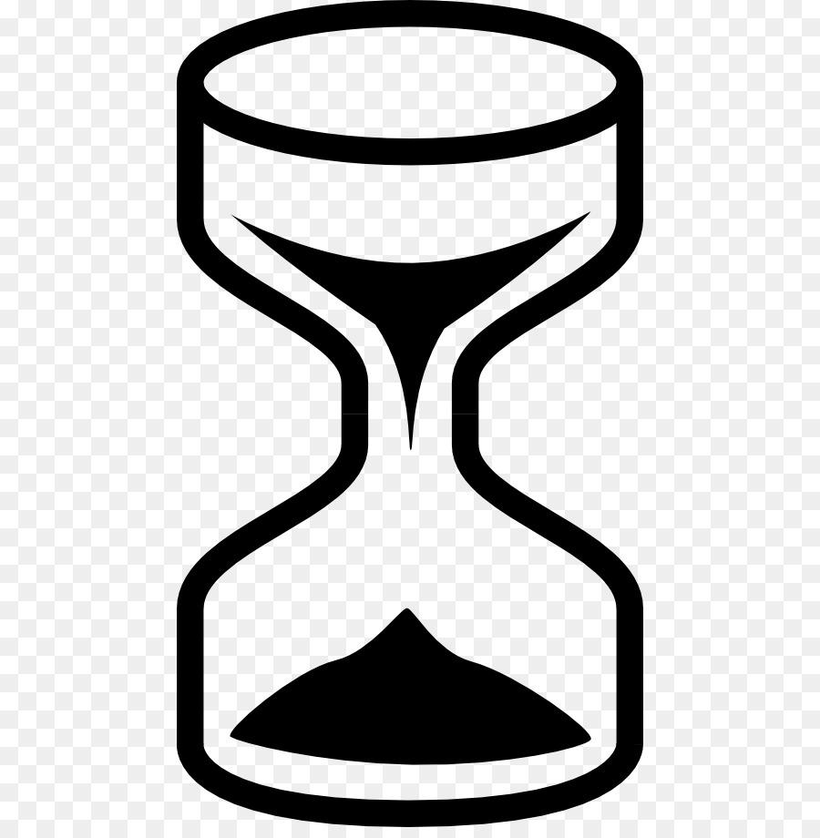 Песочные часы картинка черно-белая