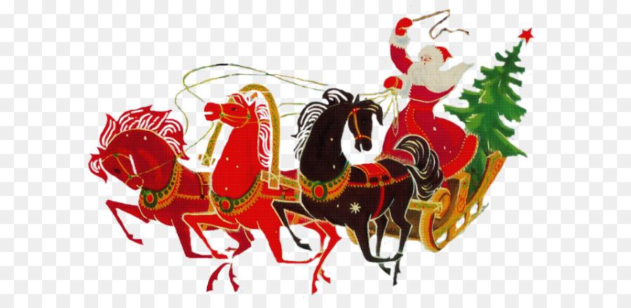 Картинки новогодние дед мороз на санях пнг