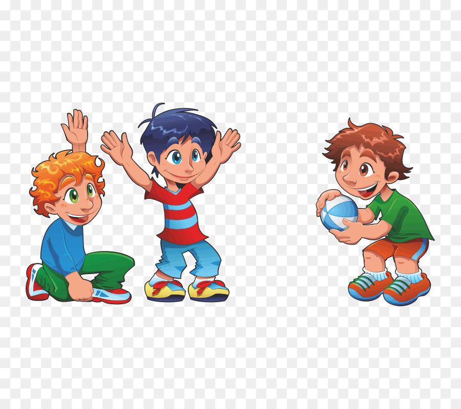 Картинка дети играют рисованная